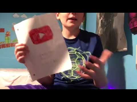 My DIY Paper YouTube Play Button!