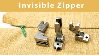 Download How to sew concealed zipper with Invisible zipper foot S518   Juki, Jackf4 Industrial sewing machine