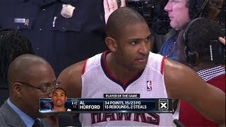 Al Horford Full Highlights vs Wizards (2013.12.13) - 34 Pts, 15 Reb, Game-Winner!