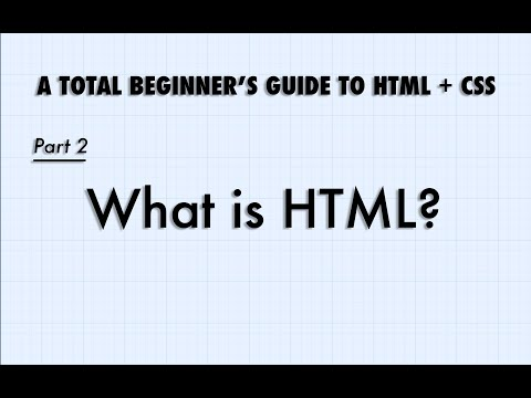 Intro To HTML And CSS, Part 2:  What Is HTML?