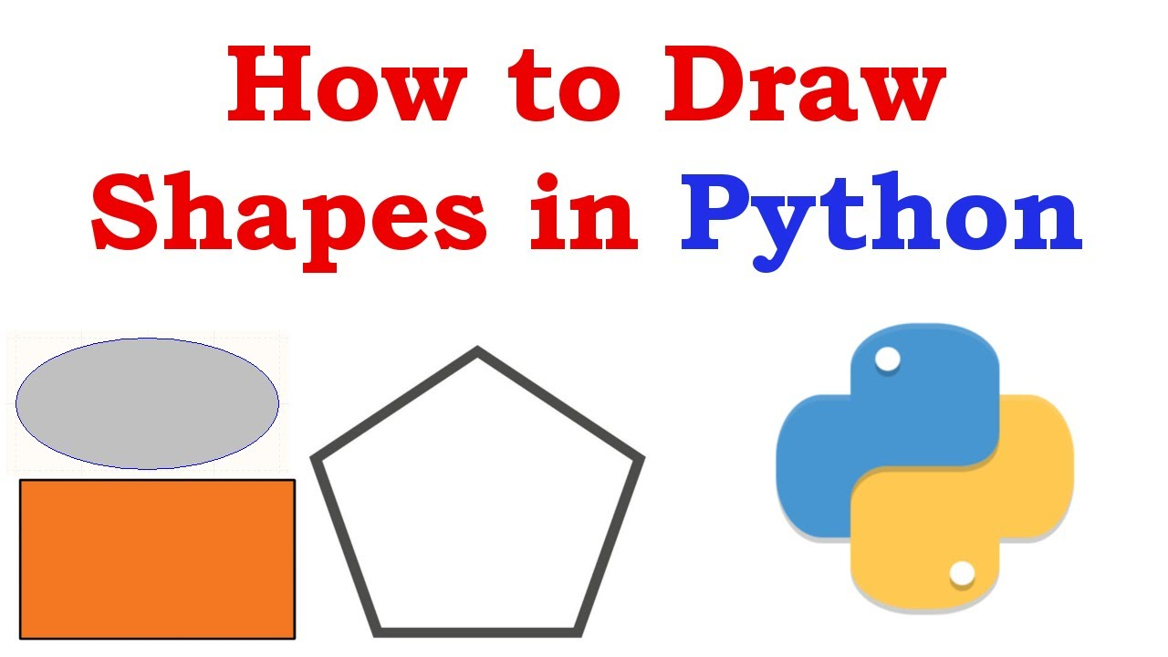 How To Draw Shapes In Python With Pyside2 Youtube