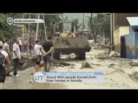 Mudslides Force Evacuations: About 900 people forced from their homes in Almaty