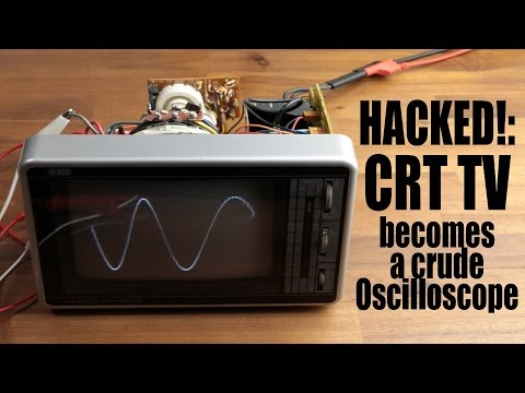 HACKED!: CRT TV becomes a crude Oscilloscope