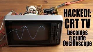 HACKED!: CRT TV becomes a crude Oscilloscope