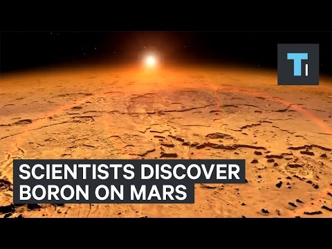 Scientists discovered boron on Mars