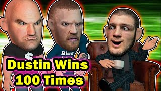 Khabib believes Dustin beats Conor 100 out of 100