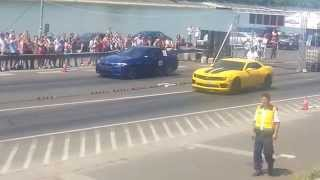 BMW M5 vs. Chevrolet Camaro SS - Rakpart gyorsulás 2014.