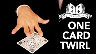 Cardistry for Beginners: Card Twirl - One Card Twirl Tutorial