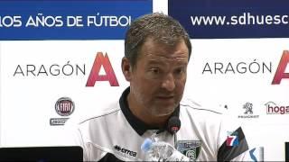 Declaraciones de A. Viadero tras el S.D.Huesca 0 - Sestao River 0