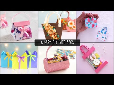 6 Easy Gift Bags | how to make a gift bag