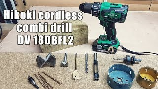 Hikoki cordless combi drill DV 18DBFL2 - unboxing and testing - is it any good?