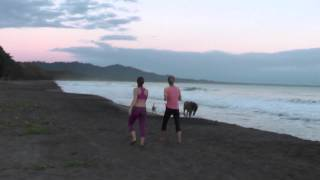 "Lonely ""mysterious"" horse riding on the beach in Puerto Viejo, Costa Rica"