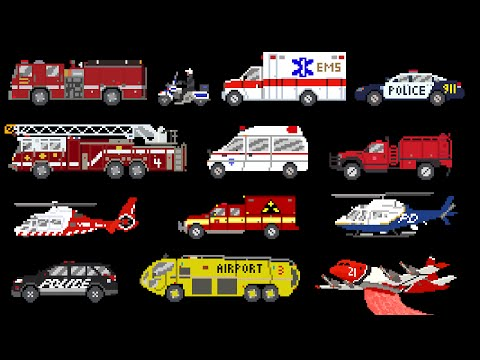 Emergency Vehicles - Rescue Trucks - Fire, Police & Ambulance - The Kids' Picture Show