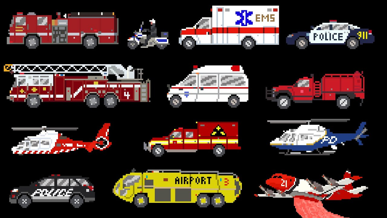 emergency vehicles rescue trucks fire police ambulance the kids picture show youtube