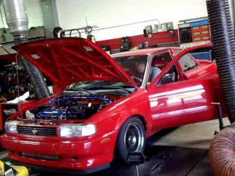 1993 Nissan Sentra SE-R Dyno Pulls - YouTube