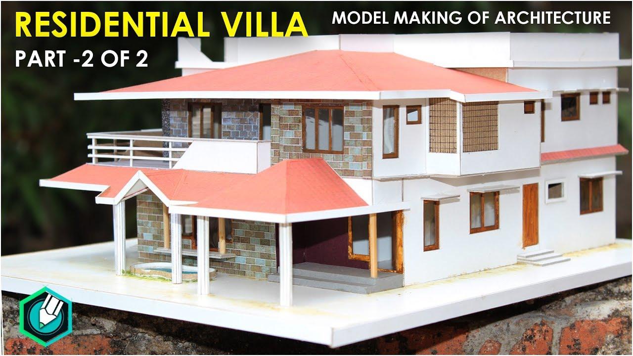 Model Making Of Traditional Villa Kerala Home Design Part 2