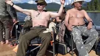 Как Владимир Путин отдыхает в Туве   Моменты риска 01