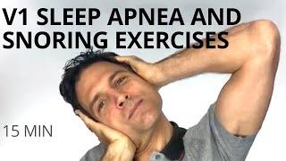 V1 of 2 Exercises for Sleep Apnea,  Snoring, Sinus Pressure. Addressing the nose, throat & tongue