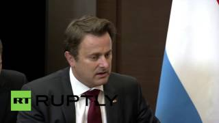 "Russia: Luxembourg & Russia have ""common"" anti-terror goals - PM Bettel tells Putin"