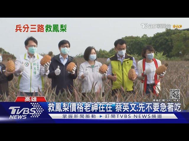 府院三巨頭救鳳梨下鄉 鎖定南台灣三縣市|TVBS新聞