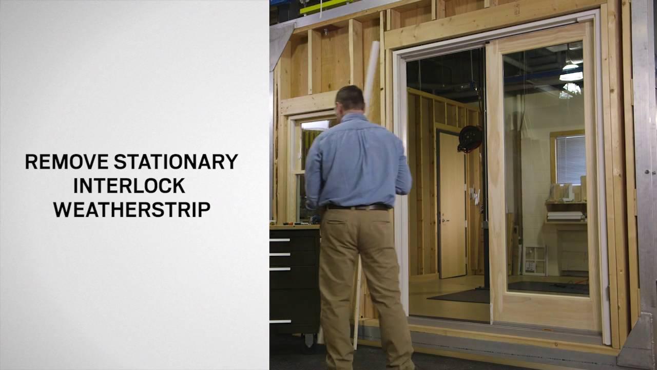 replacing an interlock weatherstrip on gliding patio doors frenchwood and narroline andersen