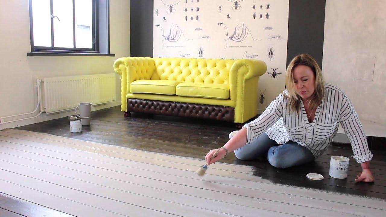 Populair Annie Sloan Chalkpaint Nederlands | Vloeren verven - YouTube VV24
