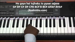 Ho Gaya Hai Tujhko Toh Pyar Sajna Piano Tutorials - DDLJ