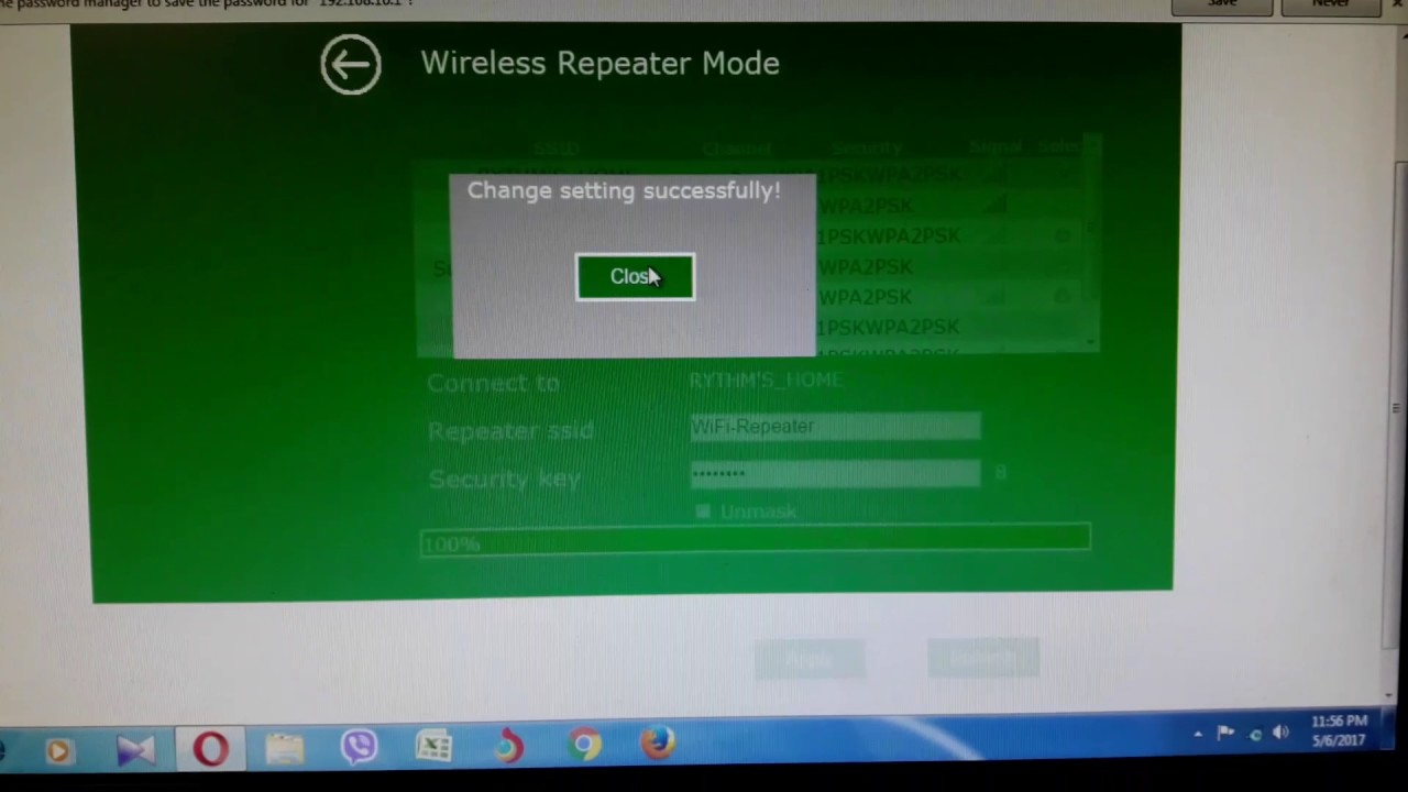 Wifi N Repeater : no internet access problem
