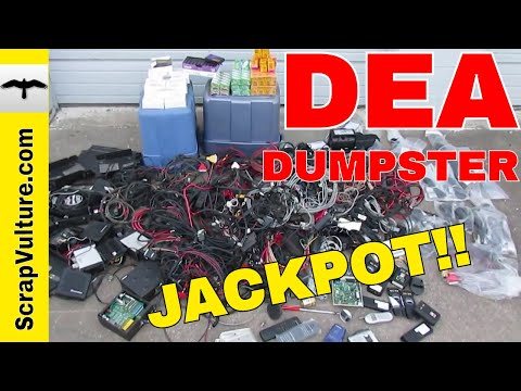 Dumpster Diving at the DEA Police $1,500 Drug Enforcement Administration Cops Haul Jackpot Copper
