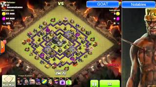 "Clash of Clans -- ""Hero and the Goat"" Screencast -- JTJ vs ""browndowns"" (10/24 CW)"