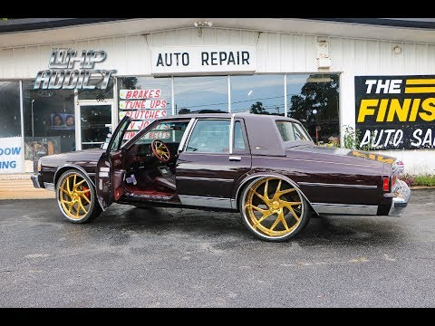 WhipAddict: 89' Chevy Caprice LS Customized! Gold Savini 26s 7 Inch Lip, Car Audio, Sunroof, & More