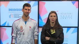 Novak Djokovic and Ivana Spanovic invite you to Euro Indoors in Belgrade