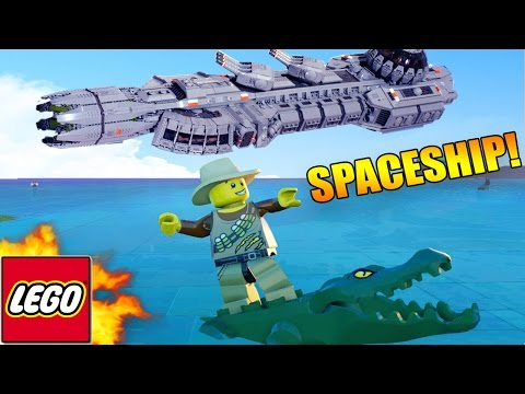 LEGO Worlds - Building A SPACESHIP! in Lego land #7 (LEGO Worlds)