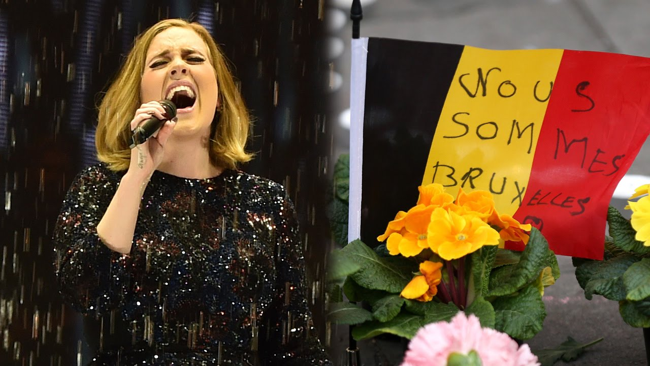 Adele Sings Heartfelt Tribute To Brussels Victims During Concert