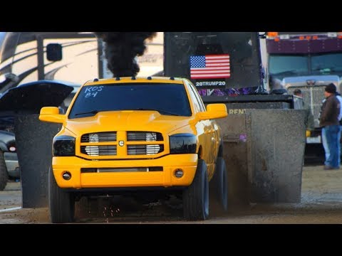 DESTROYED MY CUMMINS WHILE SLED PULLING!!!! DIRT DRAG ACTION!!!
