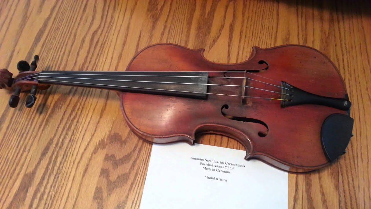 1735 Stradivarius Copy Youtube