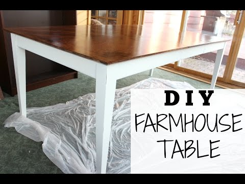 DIY FARMHOUSE TABLE for $70 | Step-by-Step + Chalk Paint Recipe!