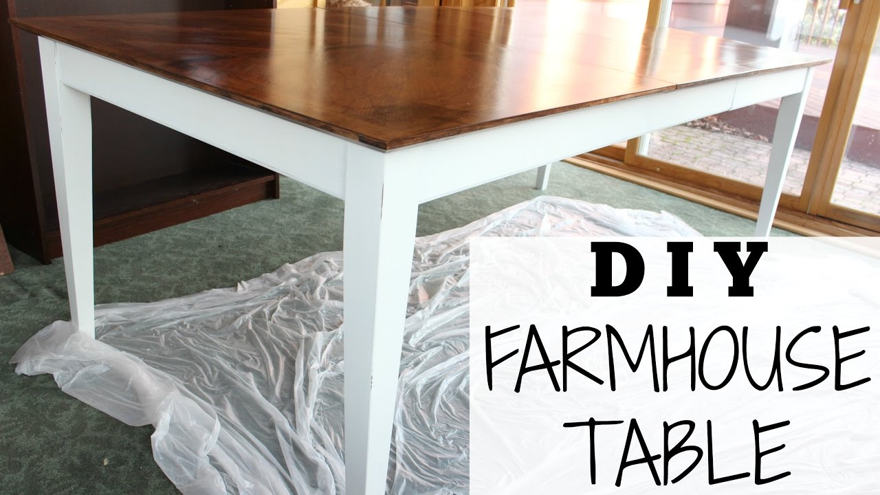 DIY FARMHOUSE TABLE For 70 Step By Step Chalk Paint