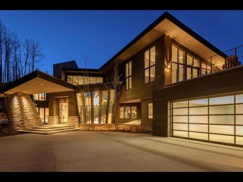 Luxury $14,450,000 Home Modern Ski Escape (With Subtitles)