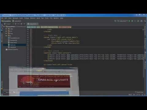 Foundation for Responsive Web Design Tutorial - 7 - Dual Menu Toggle Layout