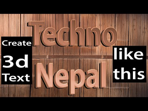 3d text mockup style in photoshop  tutorial in Nepali Language || 3d Text in Photoshop thumbnail