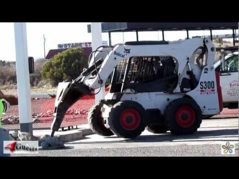 BOBCAT SKID STEER ~ S300 TURBO ~ JACK HAMMER WORK