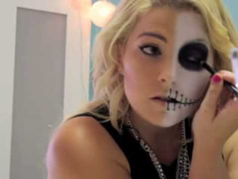 Halloween Themed Makeup Look - YouTube