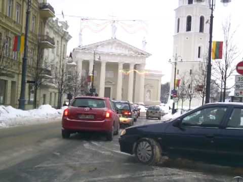 Weather in Vilnius, Lithuania, 2010-02-17, 7.30 am, minus 6 from Oras TV