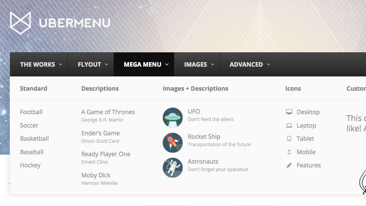 UberMenu 3 - Creating Mega Submenus (WordPress Mega Menu)