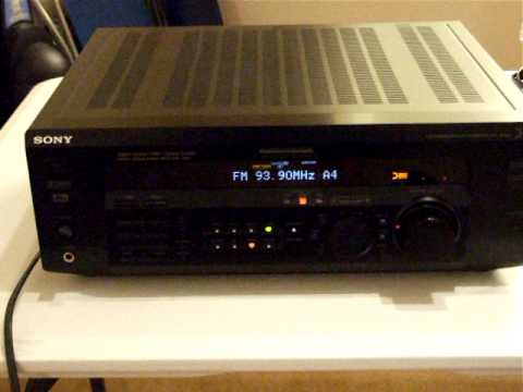 Sony strde385, dol digital 51, pro logic, control center, receiver, surround sound, home theater