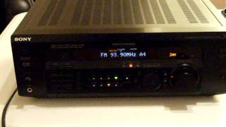 Sony str-de385, dolby digital 5.1, pro logic, control center, receiver, surround sound, home theater