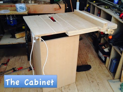 How To Make A Homemade Table Saw 3 The Cabinet Youtube