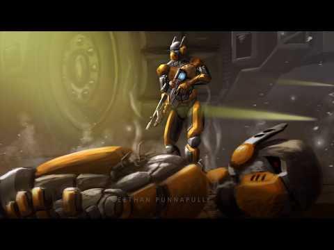 WAR ROBOT - Digital Painting Process