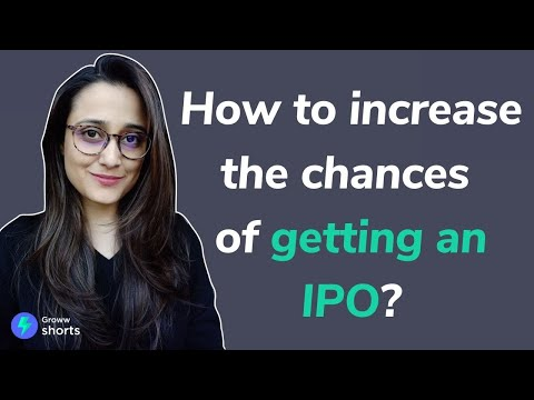 IPO Allotment - How to Increase the Chances of Getting an IPO | How to Get an IPO Allotment #shorts
